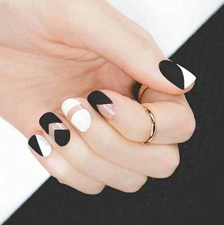 Space Nails, Nails, White Nail, Negative Space, Black White