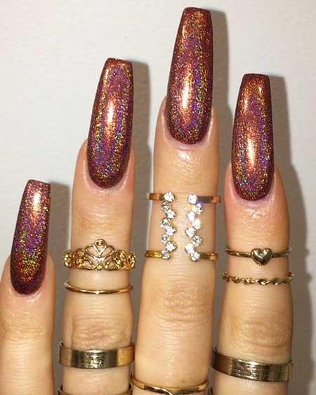 Glitter, Polish, Nail Polish, Glitter Nail, Gold, Sparkle