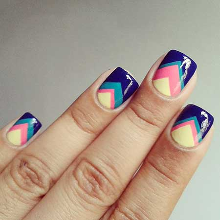 Chevron Nail, Glass Nail, Nail Trends, Nail Art Designs, Cute Easy Nail Designs