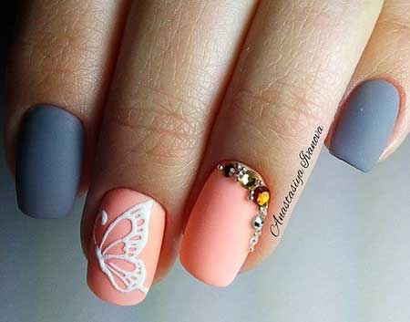Pretty Nail, Nail Art Designs, Manicure Light, İnspired, Stunning, Butterfly, Matte