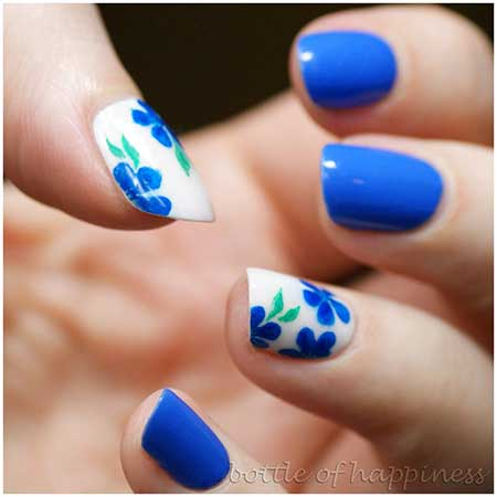 17 Simple Flower Nail Designs Nail Art Designs 2017