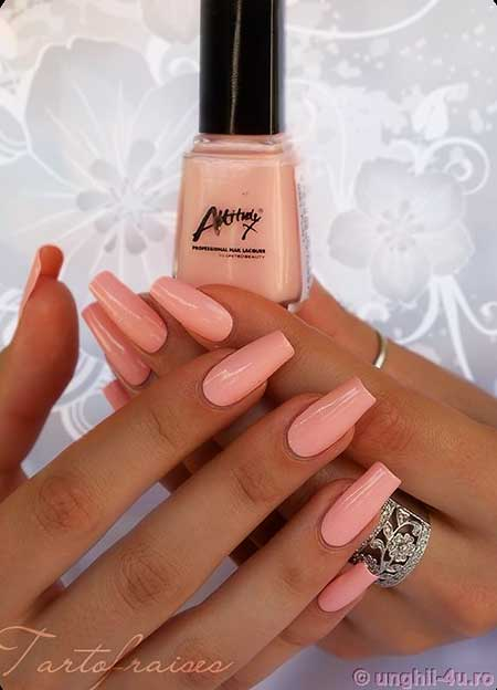 Polish, Nail Polish, Pink Nails, Swatch, Pink, Square Tip Nails, Acrylic, Nail