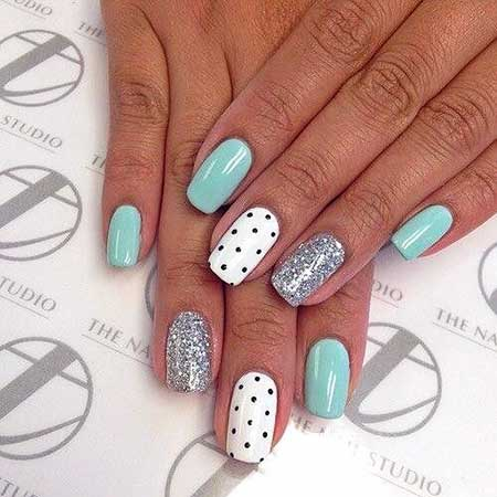 Valentine Nail, Polka Dots, Summer Nails, Nails For Summer 2017, Summer, Best