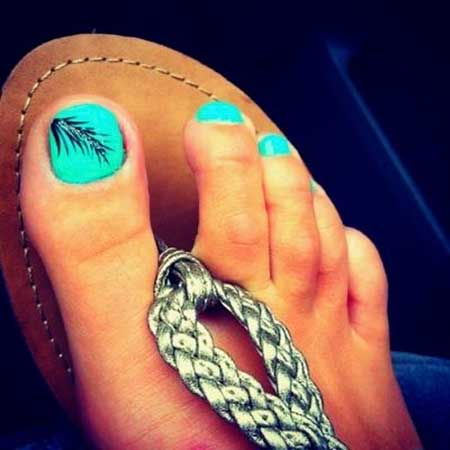 Toe Nail, Feather Nail, Toenails, Feathers, Summer Nails