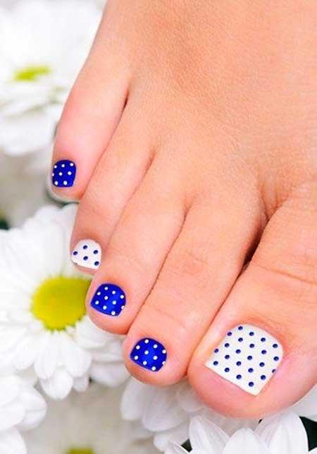 Toe Nail, Polka Dots, Toenails, Dots, Blue, Toenail Designs, Toenail, Easy, Dots, Polka