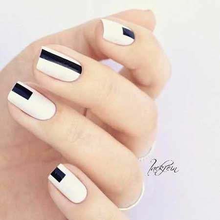 White Nail, Space Nails, Black Nail, Manicures, Nail