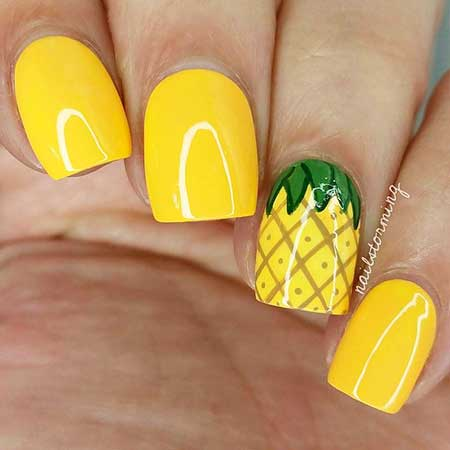 Yellow Nails, Yellow, Summer Nails, Neon Nail, Polish, Summer Nail Designs 20