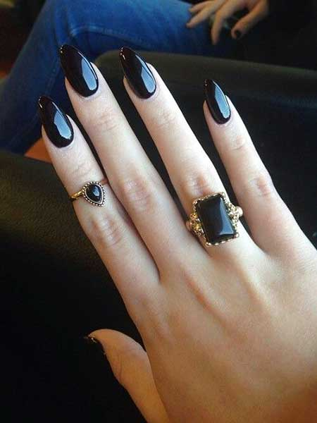 Blackil, Black Stilettos, Stilettoils, Darkil, Ovalils, Black, Designs İls