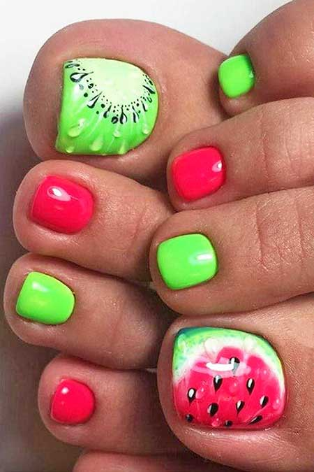 Neon, Summer Nails, Green Nails, Green, Polish, Neon Nail, Toe, Beach, Pretty, Picture