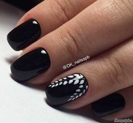 Black Nail, White Nail, Colors, 2017, Spring, Designs