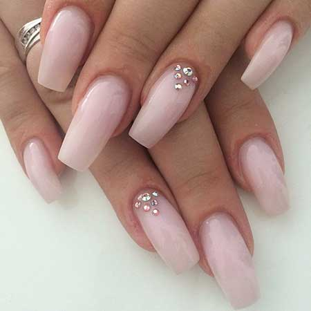 Coffin Nails, Pink Nails, Stiletto Nails, Pretty Nail, Wedding Nails