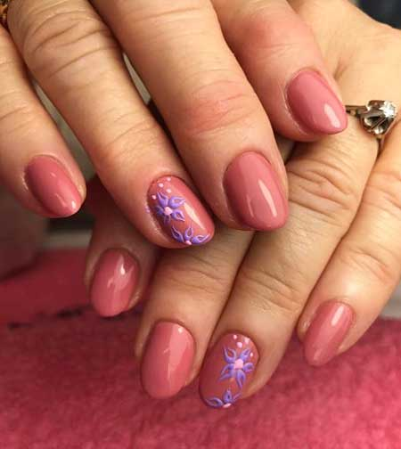 Pink, Pink Nails, Manicures, Gel, Easy, Flower, Ideas, Nail
