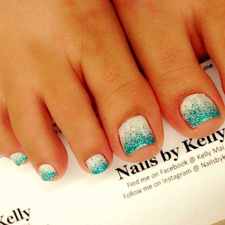 Glitter, Summer Nails, Toe Nail, Gel Nails, Toe Nail Designs, Very, Blue, White