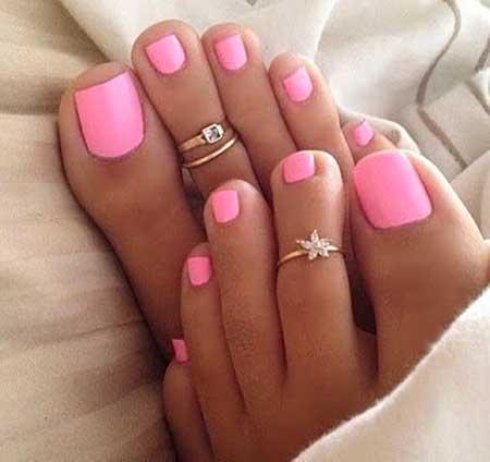 Toe Nail, Studded Nail, Pink, Pink Nails, Pedicure Designs 2017, Toenails