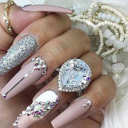 Wedding Nails, Pretty Nail, Stiletto Nails, Nails With Stones 2017, Art