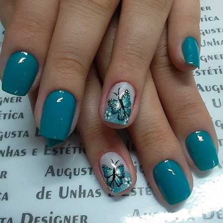 Summer Nails, Nail Art With Butterflies
