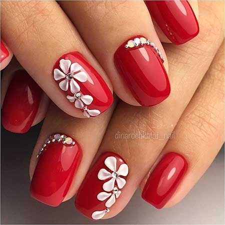 Red Nails, Nails Nailart, Red, Simple Nails, Unghii Se Poarta İn 2017, Design