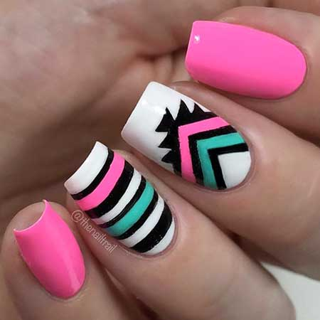 Tribal Nail, Chevron Nail, Zebra Nail, Summer Nails, Tribal Nail Decoration