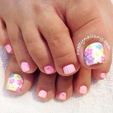 Toe Nail, Nails, Toenails, Pedicures, Summer Toes, Toenail Design