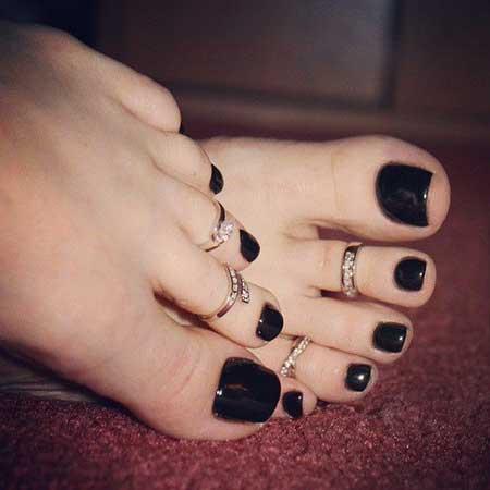 Nail, Manicures, Toe Nail, Nail Polish Toes, Toes, Love, Rings