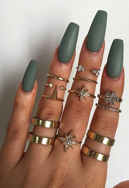 Coffin Nails, Matte Nail, Nail Ring, Nail Color, Pretty Nail