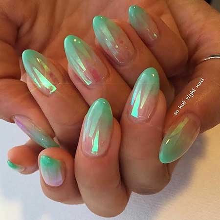 Stiletto Nails, Summer Nails, Design, Mermaid Nails, French, Polish