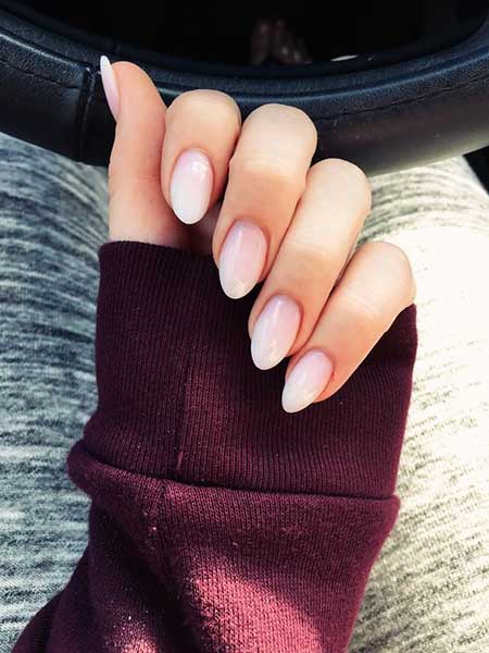 Pink, Pink Nails, Manicures, Baby Pink Nails, Nudes, White Nail