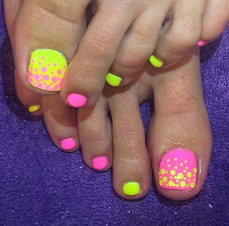 Toe Nail, Summer Nails, Rainbow Nails, Toenails, Summer Toes