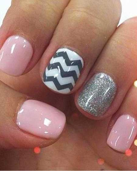 Chevron Nail, Nails, Chevron, Pink, Pretty Nail, Pink Nails