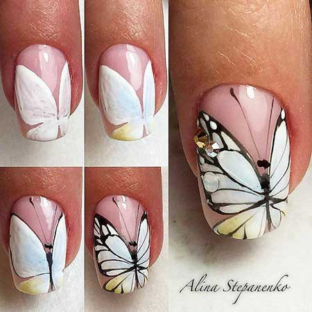Butterfly Nail, Feather Nail