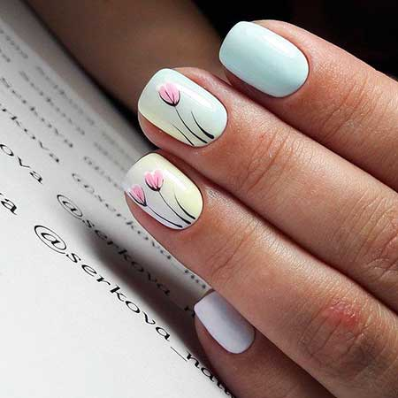 Manicures, Simple Nails, Light Blue Nails