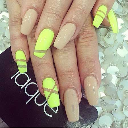 Neon Yellow Nail - 23 New Yellow Nail Designs – Nail Art Designs 2017