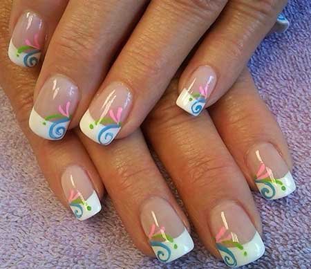 Spring Nails, Nail Art Galleries, Nails Magazine, Summer French Nail Designs