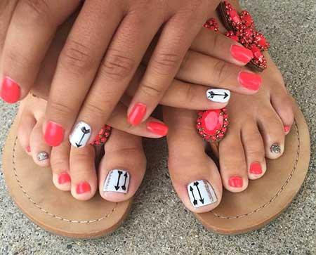 Toe Nail, Toenails, Pedicures, Chevron Toes, Pedicure, Art
