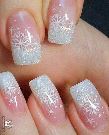 Christmas Nails, Winter Nails, Glitter, Pretty Nail, Wedding Nails