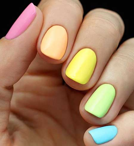 Rainbow Nails, Pastel Nail, Summer Nails, Ombre Nail, Polish, Nail Polish, Pastel