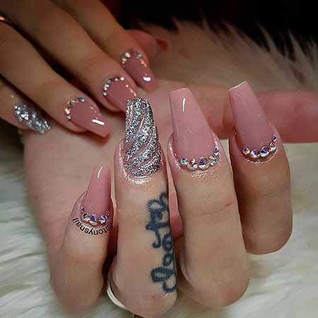 Pretty Nail, Wedding Nails, Acrylic Nails 2017, Design, Nails