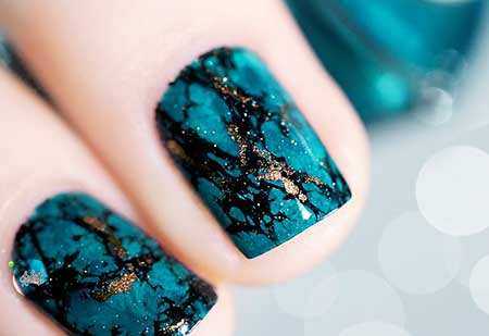 Polish, Nail Polish, Opals, Galaxy Nails, Blue, Swatch, Stone Nails, Turquoise, Art, Nail