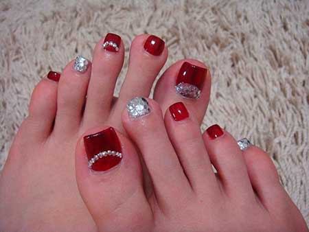 Toe Nail Art Designs For Christmas Hession Hairdressing