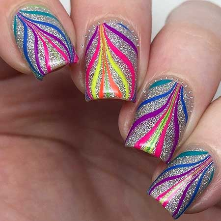 Marble Nails, Water Marble, Marbles, Watermarble, Water, Water Marble Nails, Color, Nails
