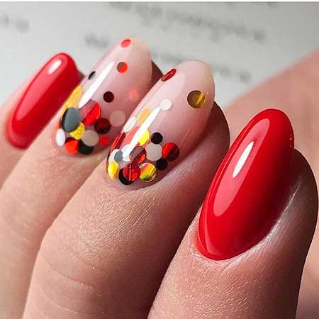 Polka Dots, Drip Nail, Dot Nail, Dots, Manicures, Manicure Design Red, Simple