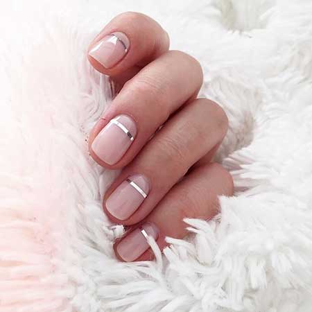 Wedding Nails, Gold Nail, Manicures, French, French Manicure, Pink Nails