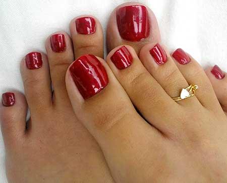 Toe Nail, Christmas Nails, Red, Holiday Nails, Sexy Toes, Toe