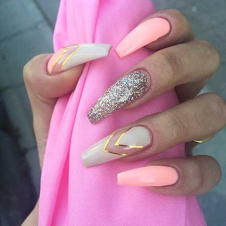 Stiletto Nails, Pink, Coffin Nails, Pink Nails, Stilettos