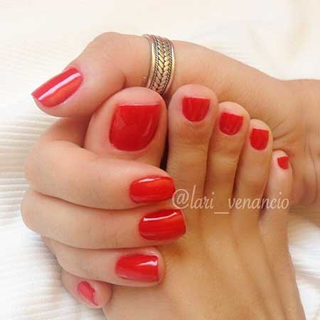 Red, Manicures, Red Nails, Shellac, Gel, Red Toe Nail Polish, Red