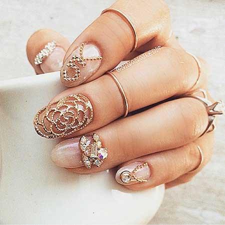 Wedding Nails, 3D Nails, Stiletto Nails, Acrylic Nails, 3D Nail Artsigns, Art