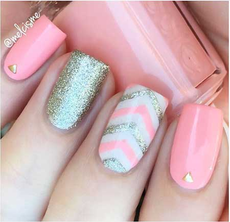 Pink Nails, Glitter Nail, Pink, Pretty Nail, Summer Nails