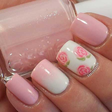 Spring Nails, Nail Polish, Pink, Pink Roses, Pretty Nail, Pink Nails
