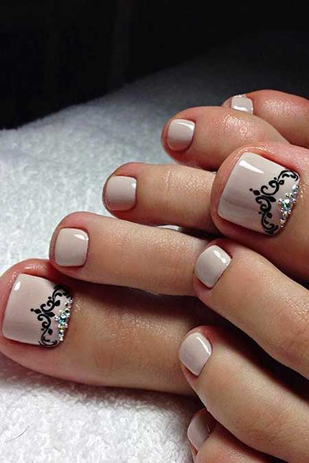 Manicures, French Manicure, Simple Nails, Toe, Beach, Pretty, Designs