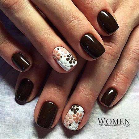 Nail Art Designs, Manicures, Black Nail, Brown Nails, Chocolate, Brown, White, Summer